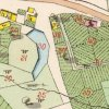 Jeřeň - tvrz | tvrziště na mapě stabilního katastru vsi Jeřeň z roku 1841