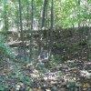 Údrč - tvrz   průběh příkopu v jihozápadní části lokality - září 2013