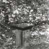Březová - socha sv. Jana Nepomuckého | podstavec stržené plastiky - září 1990