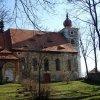 Kostelní Bříza - kostel sv. Petra a Pavla | kostel z prostoru bývalého hřbitova od severu - březen 2014