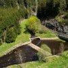 Tisová - Rohrův mlýn | obnovený jez na řece Teplé s náhonem Rohrova mlýna - květen 2015