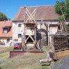 Vladořice - holubník | osamocený sloup po rozebírání holubníku - červen 2012