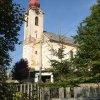 Staré Sedlo - kostel Nejsvětější Trojice | kostel Nejsvětější Trojice od jihozápadu - říjen 2013