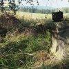 Skoky - železný kříž | zchátralý podstavec odlomeného železného kříže nad zaniklou vsí Skoky - září 2015