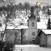 Horní Slavkov - kostel sv. Anny | špitální kostel sv. Anny v Horním Slavkově od jihozápadu v roce 1969