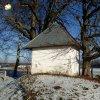 Krásno - kaple Panny Marie Sněžné | jihozápadní závěrová stěna zchátralé kaple Panny Marie Sněžné v Krásně - prosinec 2013