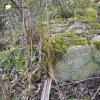 Lažany - Michlův kříž | základový sokl rozvaleného podstavce Michlova kříže u Lažan s plastickým zdobením - duben 2016