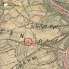 Horní Slavkov - kaple sv. Josefa | Malá kaple sv. Josefa u Horního Slavkova na mapě 3. františko-josefského vojenského mapování z let 1877-1880