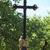 Chlum - Ratkův kříž | nově osazený litý železný kříž - květen 2017