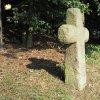 Komorní Dvůr - smírčí kříž | kamenný smírčí kříž pod Komorní hůrkou u Komorního Dvora - září 2016