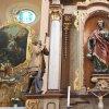 Kopanina - kostel sv. Jiří a sv. Jiljí | sochařská výzdoba rokokového postranního oltáře Nejsvětějšího Srdce Páně - duben 2017