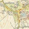 Pšov - železný kříž | železný kříž na břehu návesního rybníka v Pšově na topografické mapě Československa z roku 1952