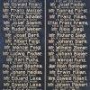 Boč - pomník obětem 1. světové války | původní nápisová deska - leden 2020