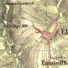 Mnichov - smírčí kříž | smírčí kříž u Mnichova na mapě 2. vojenského Františkovo mapování z roku 1845