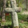 Mnichov - smírčí kříž | zadní strana smírčího kříže u Mnichova - duben 2014