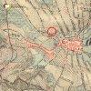 Louka - sousoší sv. Jana a Pavla | sousoší sv. Jana a Pavla u Louky při bývalé cestě do Nové Vsi na mapě 3. vojenského františko-josefského  mapování z roku 1878