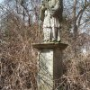 Bohuslav - socha sv. Jana Nepomuckého | zchátralá socha sv. Jana Nepomuckého - březen 2018
