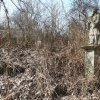Bohuslav - socha sv. Jana Nepomuckého | zarostlá zchátralá socha sv. Jana Nepomuckého na neudržované návsi uprostřed vsi Bohuslav - březen 2018