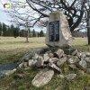 Ryžovna - pomník obětem 1. světové války | obnovený pomník obětem 1. světové války na původním místě u zbořeného kostela sv. Václava v Ryžovně - duben 2014