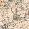 Hlineč - železný kříž | železný kříž při cestě do Martic na mapě topografické sekce 3. vojenského mapování z 30. let 20. století