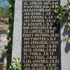 Jakubov - pomník obětem 1. světové války | deska se jmény padlých - květen 2017