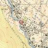 Merklín - pomník obětem 1. světové války | pomník obětem 1. světové války v Merklíně na výřezu z topografické mapy z roku 1952