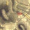 Javorná - Rábův mlýn | oba mlýnské provozy Rábova mlýna na potoce Javorná na mapě 1. vojenského josefského mapování z let 1764-1768