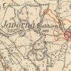 Číhaná - železný kříž   železný kříž na rozcestí cest do Javorné a Německého Chloumku na výřezu mapy topografické sekce 3. vojenského mapování ze 30. let 20. století