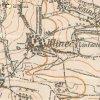 Hlineč - železný kříž | železný kříž na rozcestí při cestě do Skoků na mapě topografické sekce 3. vojenského mapování z 30. let 20. století