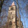 Velichov - kostel Nanebevzetí Panny Marie | zchátralý kostel od jihu - březen 2013
