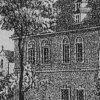 Velichov - kostel Nanebevzetí Panny Marie | starý kostel na litografii Josefa Schaflera kolem roku 1830