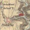 Polom - Polomský mlýn | Polomský mlýn na výřezu mapy 3. vojenského františko-josefského mapování z roku 1879