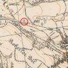 Kozlov - Fiedlerův kříž | Fiedlerův kříž u Kozlova na výřezu z mapy topografické sekce 3. vojenského mapování z 20. let 20. století