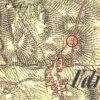 Údrč - Lifkův kříž | Lifkův kříž u Údrče na výřezu mapy 2. vojenského františkovo mapování z roku 1846