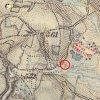 Domašín - Rozův kříž | Rozův kříž u Domašína na výřezu mapy 3. vojenského františko-josefského mapování z roku 1879.