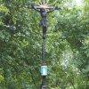 Domašín - Rozův kříž | novodobý kovaný vrcholový kříž - srpen 2021