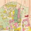 Toužim - kostel sv. Martina | kostel sv. Martina se hřbitovem v Toužimi na císařském otisku mapy stabilního katastru města z roku 1841