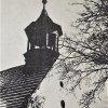 Tocov - kostel Navštívení Panny Marie | zvonička kostela v době před rokem 1945
