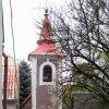 Malý Hrzín - kaple   vstupní severní průčelí kaple - říjen 2009