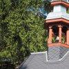 Maroltov - kaple   zvonička na hřebenu střechy obnovené obecní kaple na návsi v Maroltově - září 2016
