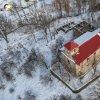Svatobor - kostel Nanebevzetí Panny Marie | areál bývalého farního kostela Nanebevzetí Panny Marie ve Svatoboru na leteckém snímku - únor 2015