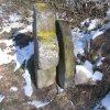 Protivec - smírčí kříž | smírčí kříž a mlýnský kámen - únor 2011