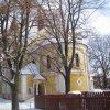 Stará Role - kostel Nanebevstoupení Páně | závěr kostela Nanebevstoupení Páně od západu - únor 2010