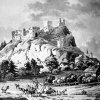Andělská Hora - hrad Andělská Hora (Engelsburg) | hrad Andělská Hora na rytině Antonína Pucherny z roku 1808