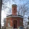 Karlovy Vary - Vyhlídka Karla IV.   pseudogotická Vyhlídka Karla IV. - únor 2010