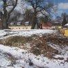 Dalovice - tvrz | tvrziště s pozůstatky trze od jihovýchodu - březen 2013