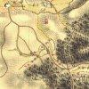 Mořičov - lovecký zámeček   lovecký zámeček v lovecké oboře ostrovského panství na výřezu mapy 1. vojenského josefského mapování z let 1764-1768