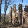 Mořičov - lovecký zámeček   zříceniny barokního loveckého zámečku u Mořičova od jihovýchodu - duben 2013