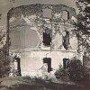 Mořičov - lovecký zámeček   zříceniny loveckého zámečku před rokem 1945