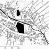Žďár (Hradiště) - zámek | výřez z katastrální mapy vsi Žďár z roku 1842 uprostřed vsi se rozkládá poplužní dvůr, zámek a kostel, nad nimi rozlehlá zámecká zahrada